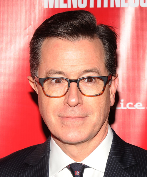 Stephen Colbert Short Straight Hairstyle - Medium Brunette