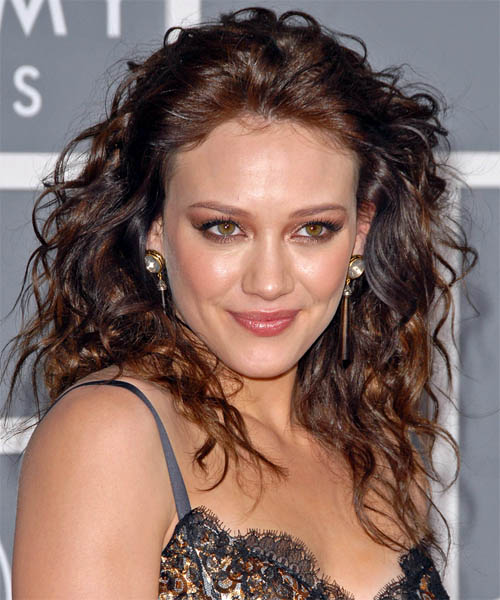 Hilary Duff Long Curly Casual Hairstyle