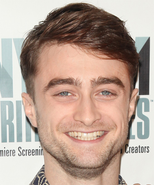 Daniel Radcliffe Short Straight Casual Hairstyle - Medium Brunette (Chestnut) Hair Color