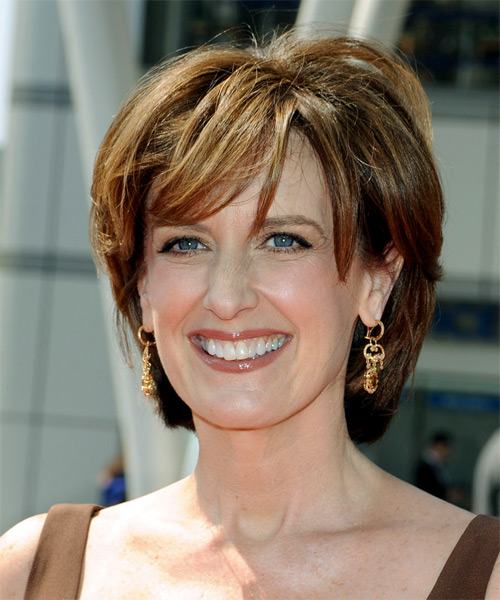 Anne Sweeney Medium Straight Casual Hairstyle