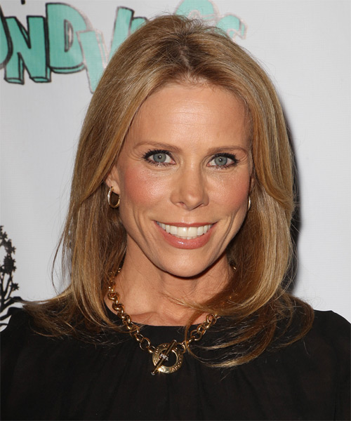 Cheryl Hines Medium Straight Hairstyle - Dark Blonde (Copper)