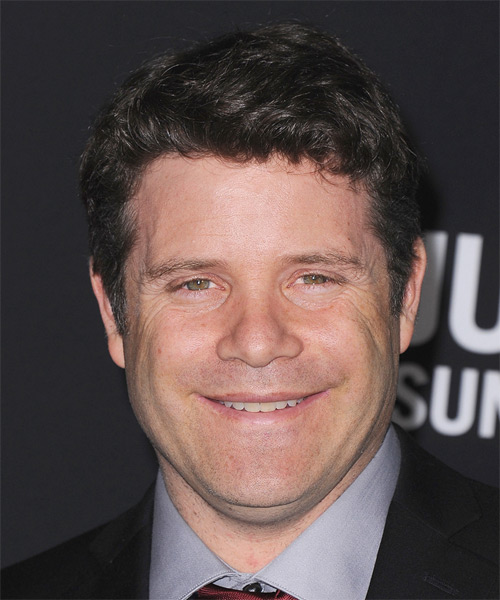 Sean Astin Short Wavy Hairstyle - Black