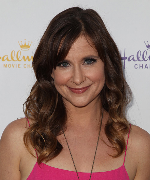 Kellie Martin Long Wavy Casual Hairstyle - Dark Brunette Hair Color