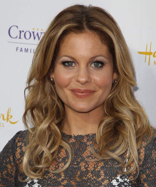 Candace Cameron Bure Long Wavy Casual Hairstyle Dark