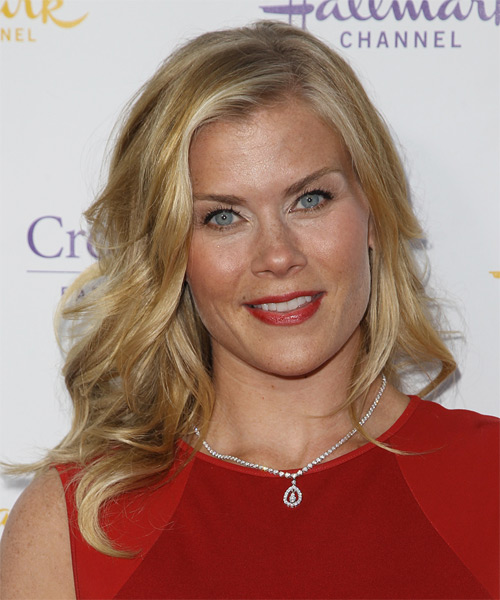 Alison Sweeney Medium Wavy Formal Hairstyle - Medium Blonde Hair Color