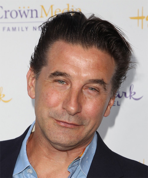 William Baldwin Short Straight Hairstyle - Dark Brunette