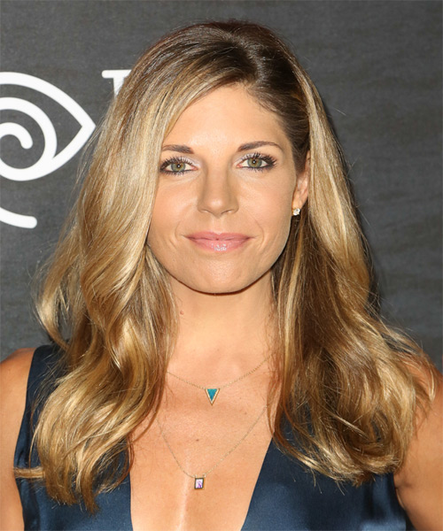 Andrea Bogart Long Straight Casual Hairstyle - Medium Blonde Hair Color