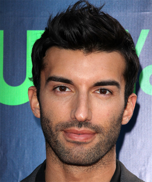 Justin Baldoni Short Straight Hairstyle - Black