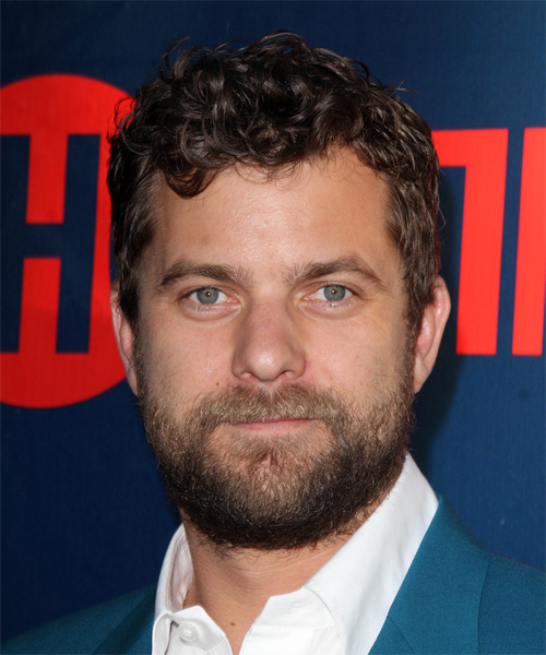 Joshua Jackson Short Curly Casual Hairstyle - Medium Brunette Hair Color