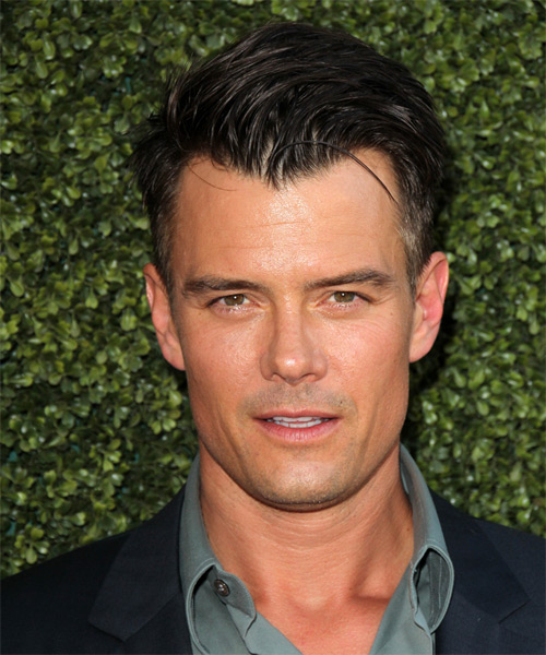 Josh Duhamel Short Straight Formal Hairstyle - Black Hair Color