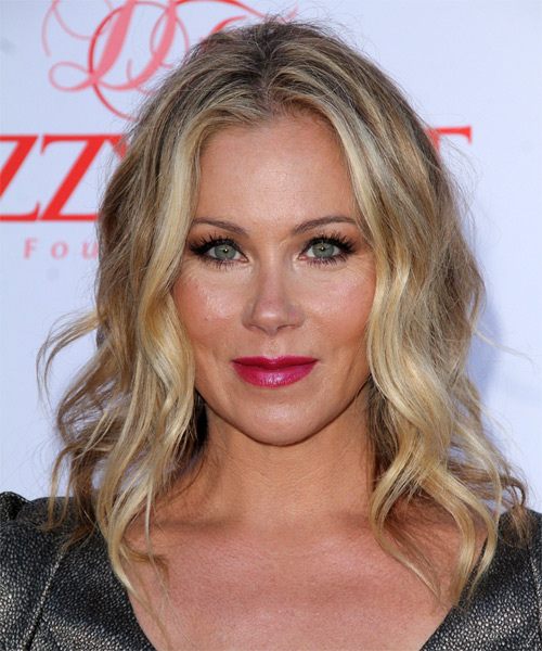 Christina Applegate Medium Wavy Hairstyle - Dark Blonde (Golden)