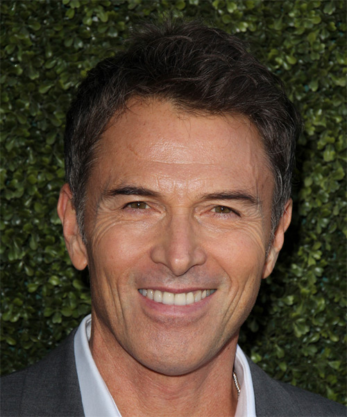 Tim Daly Short Straight Hairstyle - Dark Brunette