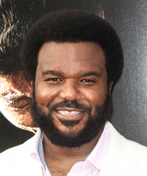 Craig Robinson Short Curly Casual Afro - Black