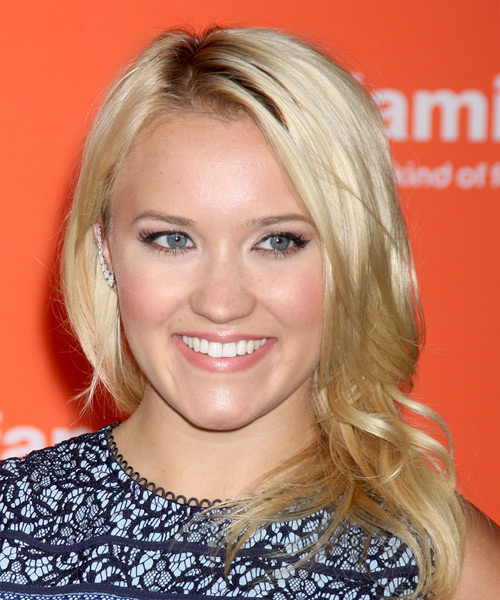 Emily Osment Medium Straight Casual Hairstyle - Light Blonde Hair Color