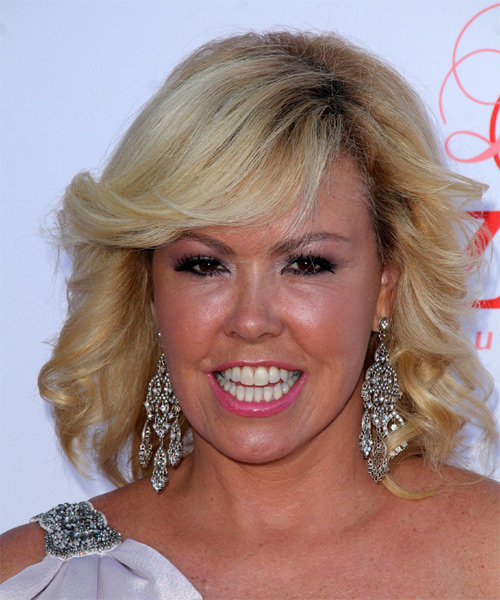 Mary Murphy Medium Curly Formal Hairstyle - Medium Blonde Hair Color