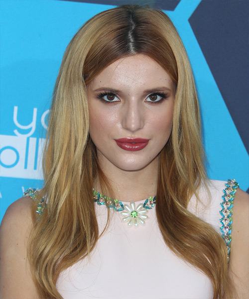 Bella Thorne Long Straight Hairstyle - Medium Blonde