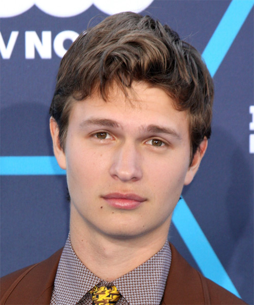 Ansel Elgort Short Straight Casual Hairstyle - Medium Brunette Hair Color