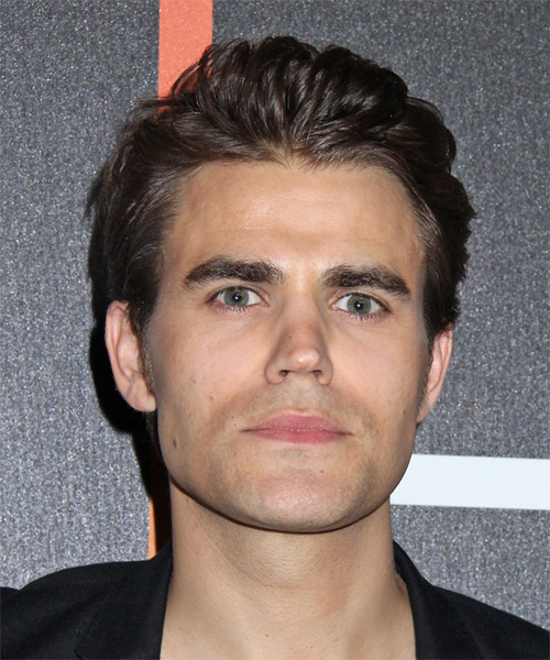 Paul Wesley Short Straight Hairstyle - Medium Brunette (Ash)