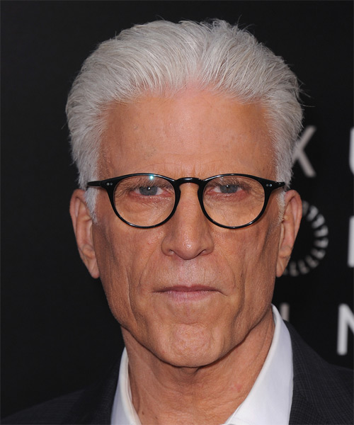 Ted Danson Short Straight Hairstyle - Light Grey