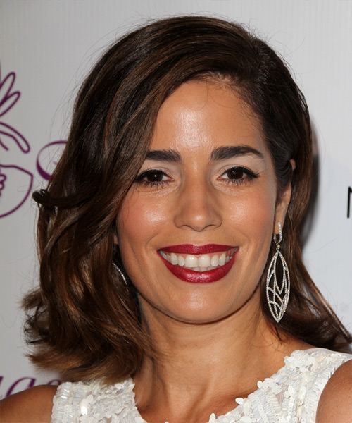 Ana Ortiz Medium Straight Hairstyle - Dark Brunette (Chocolate)