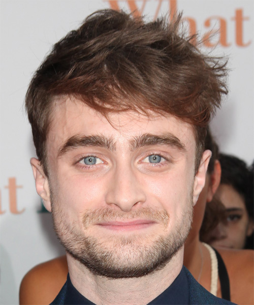 Daniel Radcliffe Short Straight Hairstyle - Medium Brunette (Chocolate)