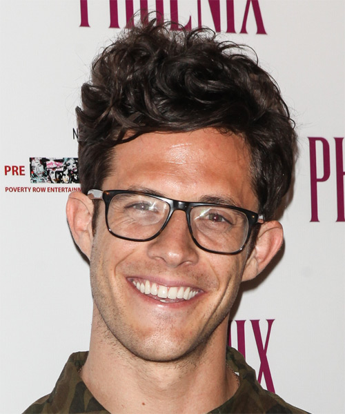 Kyle Harris Short Wavy Hairstyle - Dark Brunette