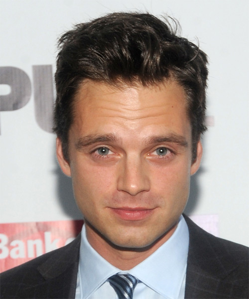 Sebastian Stan Short Straight Hairstyle - Dark Brunette (Mocha)