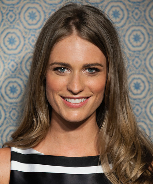 Julie Henderson Long Straight Formal Hairstyle - Medium Brunette (Ash) Hair Color