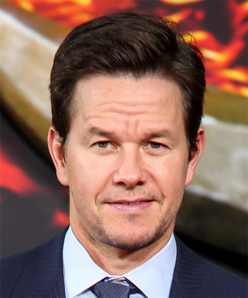 Mark Wahlberg Short Straight Formal Hairstyle - Dark Brunette (Mocha) Hair Color
