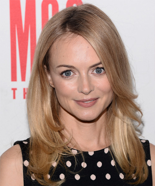 Heather Graham Long Straight Formal Hairstyle - Medium Blonde Hair Color