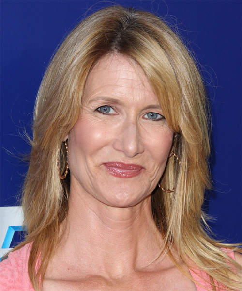 Laura Dern Long Straight Casual Hairstyle - Medium Blonde (Golden) Hair Color