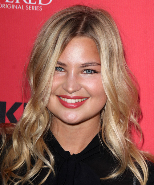 Jennifer Akerman Long Wavy Casual Hairstyle - Medium Blonde Hair Color