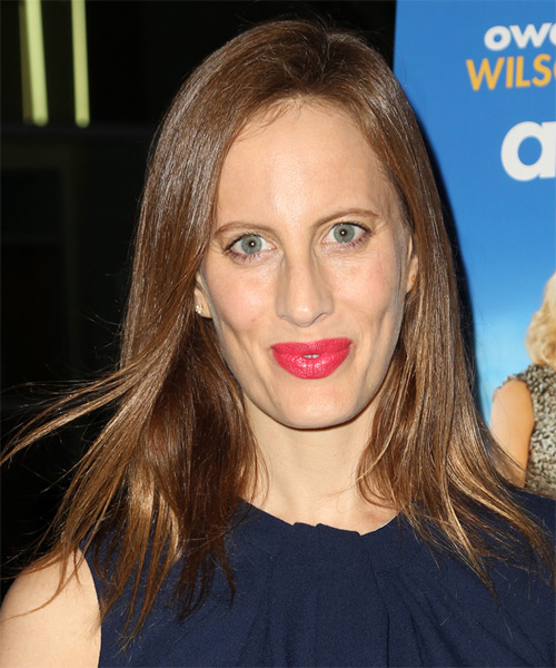 Liz Goldwyn Long Straight Casual Hairstyle - Medium Brunette Hair Color