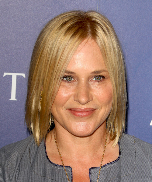 Patricia Arquette Medium Straight Casual Bob Hairstyle - Medium Blonde (Honey) Hair Color