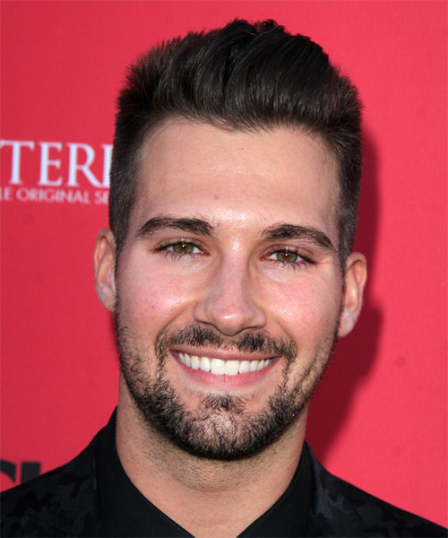 James Maslow Short Straight Hairstyle - Dark Brunette