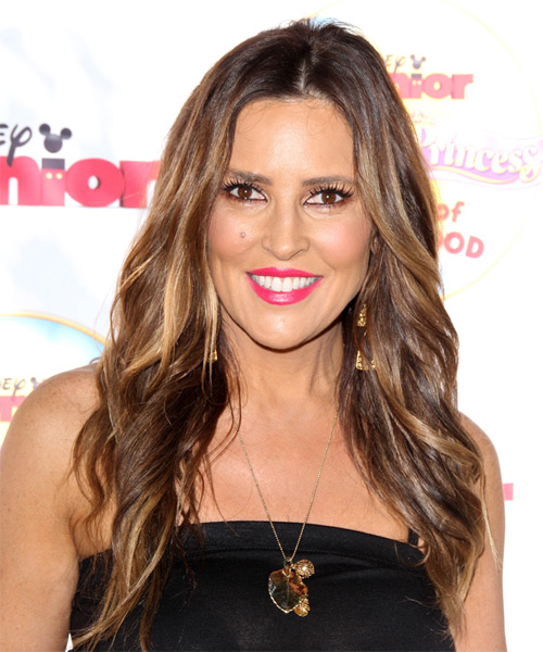 Jillian Barberie Long Wavy Casual Hairstyle - Medium Brunette Hair Color