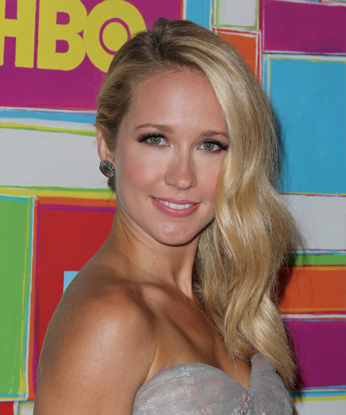 Anna Camp Long Straight Formal Hairstyle - Medium Blonde (Champagne) Hair Color
