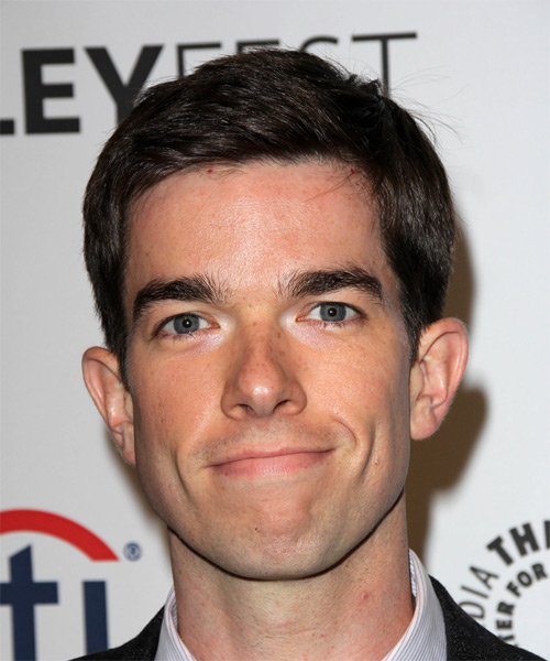 John Mulaney Short Straight Formal Hairstyle - Dark Brunette Hair Color