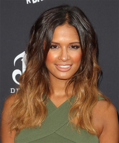 Rocsi Diaz Long Wavy Casual Hairstyle - Dark Brunette Hair Color
