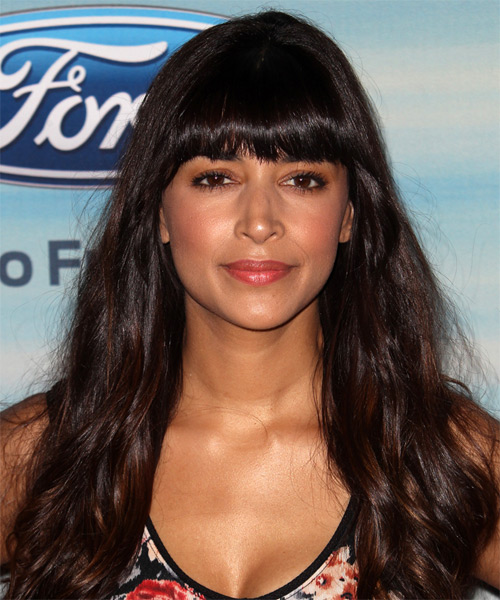 Hannah Simone Long Straight Casual  - Dark Brunette (Mocha)
