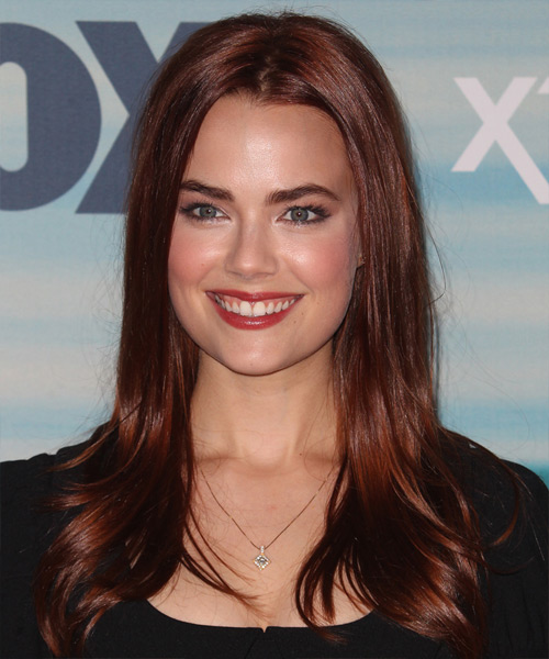 Rebecca Rittenhouse Long Straight Formal Hairstyle - Dark Red Hair Color
