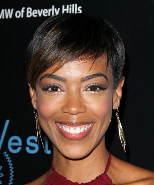 Jazmyn Simon Short Straight Formal Hairstyle - Black Hair Color