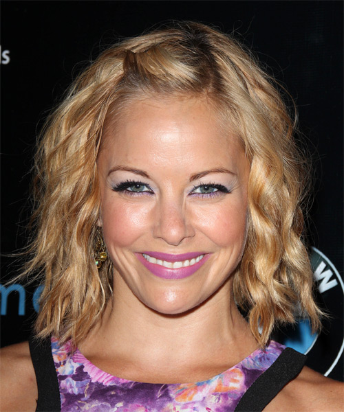 Amy Paffrath Medium Wavy Casual Hairstyle - Dark Blonde (Copper) Hair Color