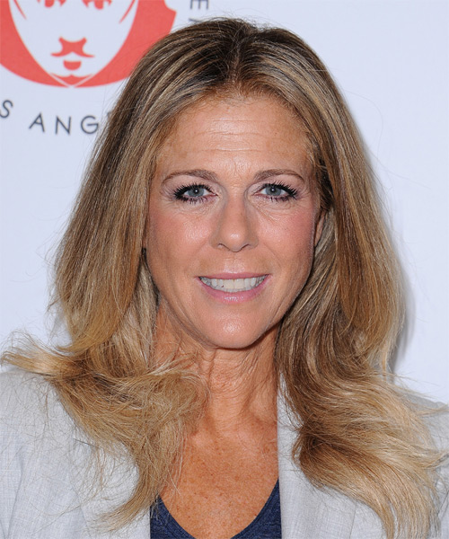 Rita Wilson Long Straight Casual Hairstyle - Dark Blonde Hair Color