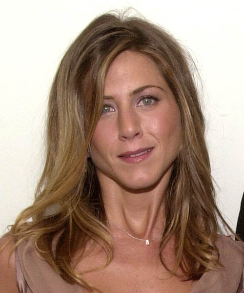 Jennifer Aniston Long Straight Hairstyle - Medium Brunette (Caramel)