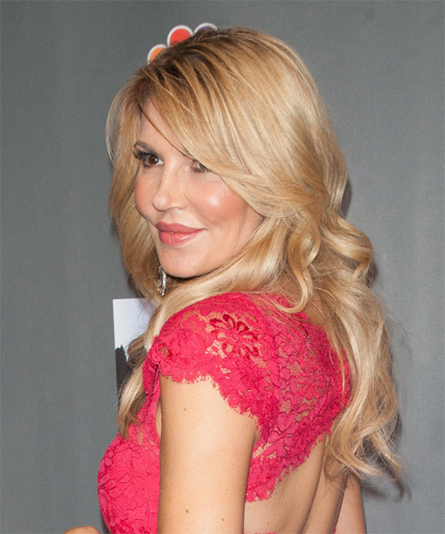 Brandi Glanville Long Wavy Formal  - Medium Blonde (Honey) - side view