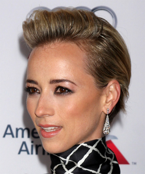 Karine Vanasse Short Straight Casual Hairstyle - Dark Blonde Hair Color - side view