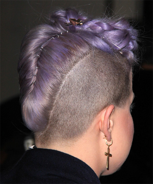 Kelly Osbourne Long Wavy Alternative Emo - side view
