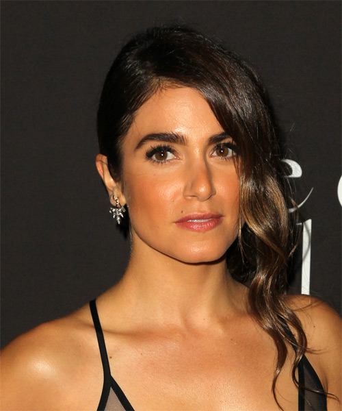 Nikki Reed Long Wavy Formal - side view
