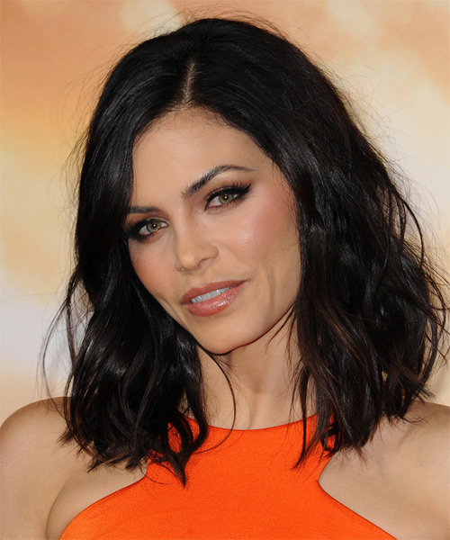 Jenna Dewan Medium Wavy Casual  - Black - side view